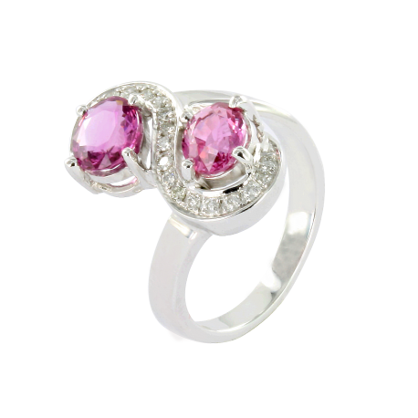Bague or et saphirs (1,8 ct) diamants (0,2 ct), ariane