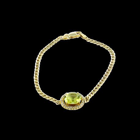 Bracelets argent et quartz (5 carats) et topazes (1 carat), l'irrésistible jaune