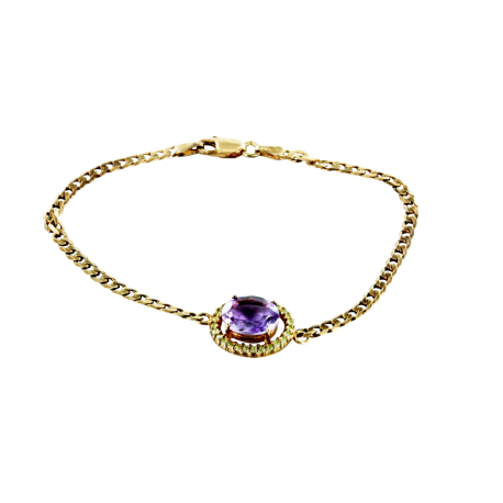 Bracelets argent et améthyste (5 carats) et topazes (1 carat), l'irrésistible violet