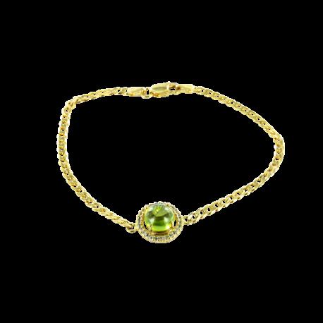 Bracelets argent et péridot (5 carats) et topazes (1 carat), l'irrésistible vert